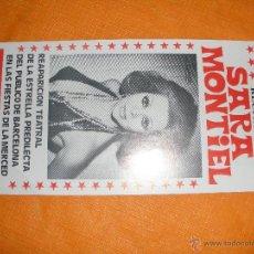 Cine: FOLLETO DEL RECITAL SARA MONTIEL TEATRO VICTORIA . Lote 44775748