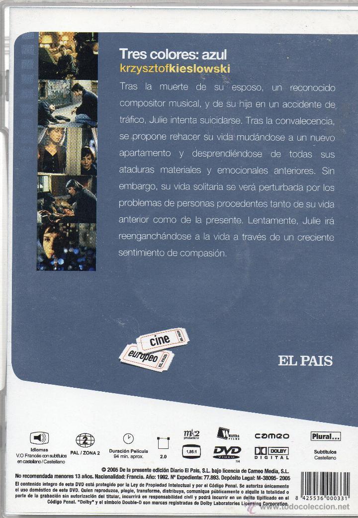 Cine: KRZYSZTOF KIESLOWSKI. LA TRILOGIA. EN MUY BUEN ESTADO. 3 DVD. - Foto 2 - 45090306