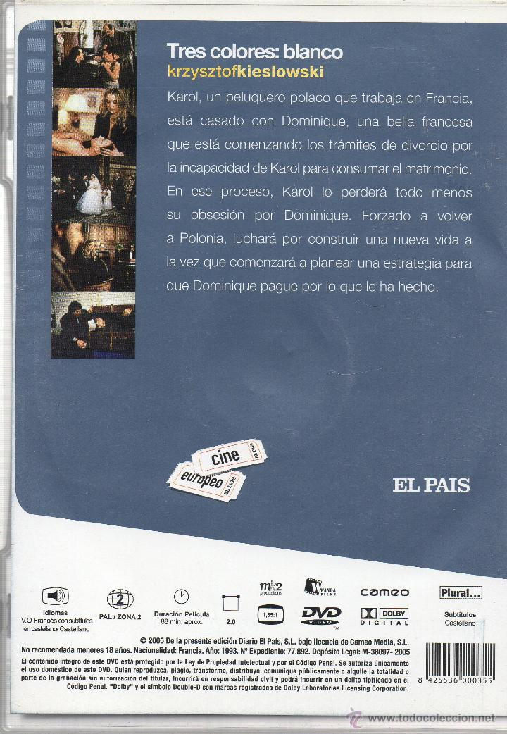 Cine: KRZYSZTOF KIESLOWSKI. LA TRILOGIA. EN MUY BUEN ESTADO. 3 DVD. - Foto 6 - 45090306