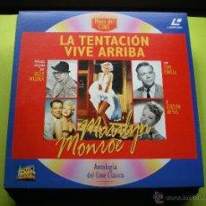 Cine: MITOS DEL CINE - PELICULA LASER DISC - LA TENTACION VIVE ARRIBA -MARIYN MONROE PEPETO. Lote 45670846