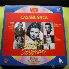 Cine: CASABLANCA LASER DISC - COLECCION MITOS DEL CINE ANTOLOGIA DEL CINE CLASICO. Lote 45670879
