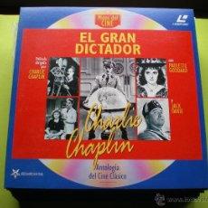 Cine: MITOS DEL CINE - PELICULA LASER DISC -EL GRAN DICTADOR CHARLIE CHAPLIN PEPETO. Lote 45670979