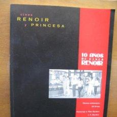 Cine: LIBRO DECIMO ANIVERSARIO CINES RENOIR Y PRINCESA. JUNIO 1996. 32 FIRMAS.. Lote 46333615
