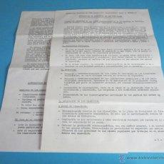 Cine: DECLARACIÓN DE PRINCIPIOS DE LOS CINE-CLUBS. 4 PÁGINAS MECANOGRAFIADAS. Lote 47014050