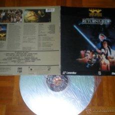Cine: LASER DISC EL RETORNO DEL JEDI STAR WARS 1990 DOS DISCOS EN INGLES USA. Lote 47034114