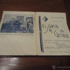 Cinema: PROSPECTO DE CINE EL SABOR DE LA GLORIA . Lote 47665596
