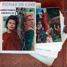 Cine: FICHAS DE CINE DIRECTORES PELÍCULAS, CENTRO NACIONAL DE PASTORAL JUVENIL, 125 FICHAS, MUY RARO. Lote 48204704