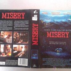 Cinema: SOLO CARATULA VIDEO - MISERY - KATHY BATES, JAMES CAAN, STEPHEN KING. Lote 48486930