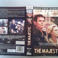 Cine: SOLO CARATULA VIDEO - THE MAJESTIC - JIM CARREY. Lote 48496240