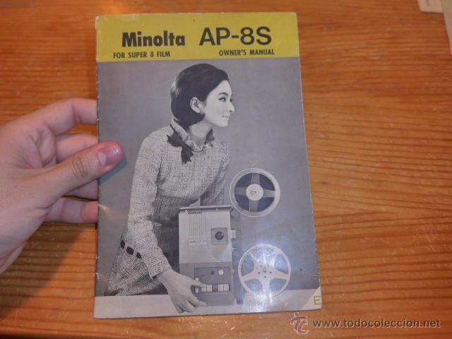 ANTIGUO CATALOGO DE MAQUINA DE CINE MINOLTA AP-8S SUPER 8 (Cine - Varios)