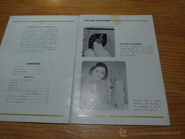 Cine: Antiguo catalogo de maquina de cine minolta AP-8S super 8 - Foto 2 - 48696518