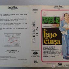 Cinema: SOLO CARATULA VIDEO - EL HIJO DEL CURA - FERNANDO ESTESO, JUANITO NAVARRO, MARIANO OZORES. Lote 48828326