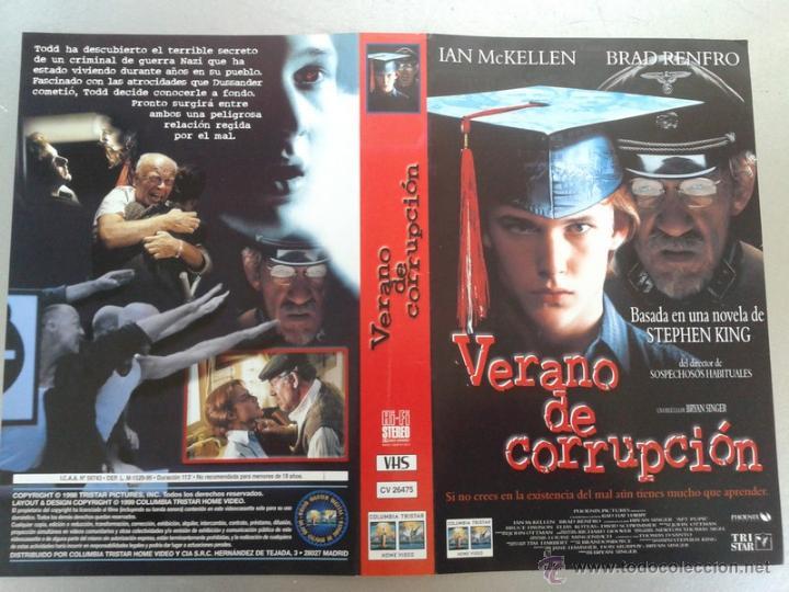SOLO CARATULA VIDEO - VERANO DE CORRUPCIÓN - STEPHEN KING (Cine - Varios)