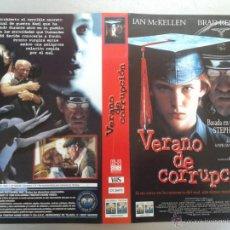 Cinema: SOLO CARATULA VIDEO - VERANO DE CORRUPCIÓN - STEPHEN KING. Lote 48832984