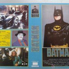 Cinema: SOLO CARATULA VIDEO - BATMAN - MICHAEL KEATON, JACK NICHOLSON, KIM BASINGER, TIM BURTON - CACITEL. Lote 48833202