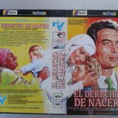 Cine: SOLO CARATULA VIDEO - EL DERECHO DE NACER - JORGE MISTRAL. Lote 48836683