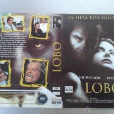 Cinema: SOLO CARATULA VIDEO - LOBO - JACK NICHOLSON, MICHELLE PFEIFFER. Lote 48839734