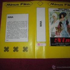 Cinema: SOLO CARATULA ~ NINA ~ . Lote 48865900