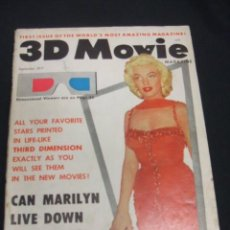 Cine: PORTADA MARILYN MONROE - 3D MOVIE - MAGAZINE - SEPTEMBER 1953 - VOL 1 Nº 1 - EN INGLES - . Lote 49541662