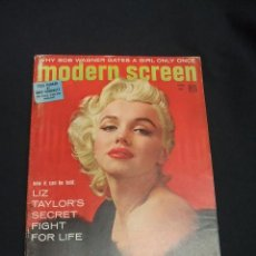 Cine: PORTADA MARILYN MONROE - MODERN SCREEN - JUNE 1955 - EN INGLES - . Lote 49543561