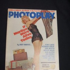 Cine: PORTADA MARILYN MONROE - PHOTOPLAY - SEPT. 1975 - EN INGLES - . Lote 49543760