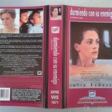 Cine: SOLO CARATULA VIDEO VHS - DURMIENDO CON SU ENEMIGO - JULIA ROBERTS. Lote 49698159