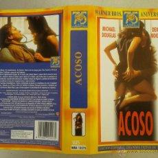 Cine: SOLO CARATULA VIDEO VHS - ACOSO - MICHAEL DOUGLAS, DEMI MOORE. Lote 49710977