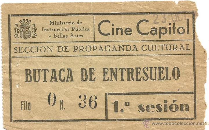 Entrada de cine capitol ministerio de instrucci vendido for Cine capitol precio entrada