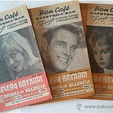 Cine: 3 CARTELERAS BAYARRI. 1963 Y 1964. Nº 314, 381 Y 382. Lote 49864820