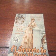 Cine: EL SECRETO DE ANA MARIA . Lote 50019699
