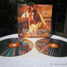 Cine: EL INFORME PELÍCANO ( JULIA ROBERTS, DENZEL WASHINGTON ) LASER DISC LASERDISC PAL WB [VG / VG / EX]. Lote 50424834