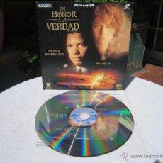 Cine: EN HONOR A LA VERDAD ( DENZEL WASHINGTON, MEG RYAN ) LASER DISC LASERDISC PAL WIDESCREEN [VG+ / EX+]. Lote 50424977