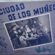 Cine: CARTELERA CINE. LA CIUDAD DE LOS MUÑECOS.. Lote 51009376