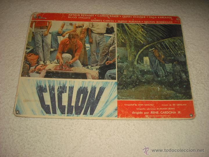 CARTELERA DE LA PELICULA CICLON 29 X 39 CM (Cine - Varios)
