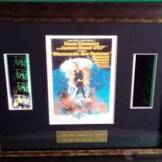 Cine: 2 FOTOGRAMAS ORIGINALES DE 007 PELICULA JAMES BOND DIAMONDS ARE FOREVER EDICION LIMITADA Y NUMERADA. Lote 53256892