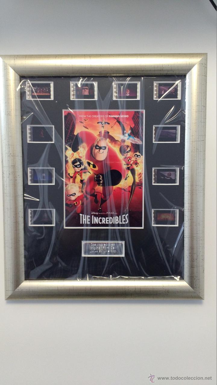 THE INCREDIBLES - FRAMED FILM CELLS - NUMERADO # 6/100 (E-FRAME POSTERS UK) - 35 MM - PIXAR (Cine - Varios)