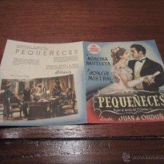 Cine: PEQUEÑECES PROGRAMA DOBLE CIFESA CINE ESPAÑOL AURORA BAUTISTA SARA MONTIEL. Lote 54086886