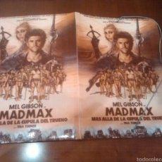 Cine: MAD MAX CARPETA AÑOS 80 ORIGINAL MEDIDAS 36×26. Lote 108669303