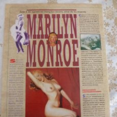 Cine: REPORTAJE Y LÁMINAS MARILYN MONROE A LOS 30 AÑOS DE SU MUERTE(6-8-1992)-FOTOS. Lote 54334716