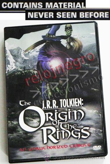 JRR TOLKIEN ORIGIN OF THE RINGS DVD EN INGLÉS- DOCUMENTAL EL SEÑOR DE LOS ANILLOS TRIBUTO DRANGONS & (Cine - Varios)