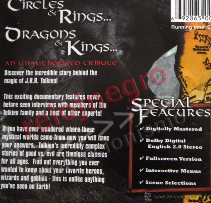 Cine: JRR TOLKIEN ORIGIN OF THE RINGS DVD EN INGLÉS- DOCUMENTAL EL SEÑOR DE LOS ANILLOS TRIBUTO DRANGONS & - Foto 2 - 54484809