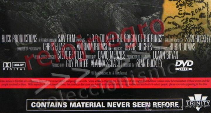 Cine: JRR TOLKIEN ORIGIN OF THE RINGS DVD EN INGLÉS- DOCUMENTAL EL SEÑOR DE LOS ANILLOS TRIBUTO DRANGONS & - Foto 3 - 54484809