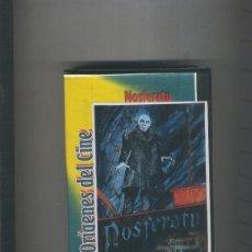 Cine: VIDEO VHS: ORIGENES DEL CINE: NOSFERATU Y TRES HOMBRES MALOS. Lote 55508602