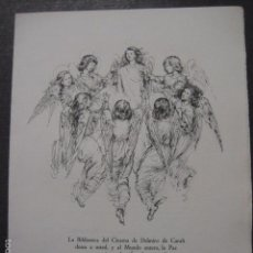 Cine: BIBLIOTECA DEL CINEMA DELMIRO CARALT - ARTE CINEMATOGRAFICO - FELICITACION NUMERADA DE 250-(V-5905). Lote 57206335