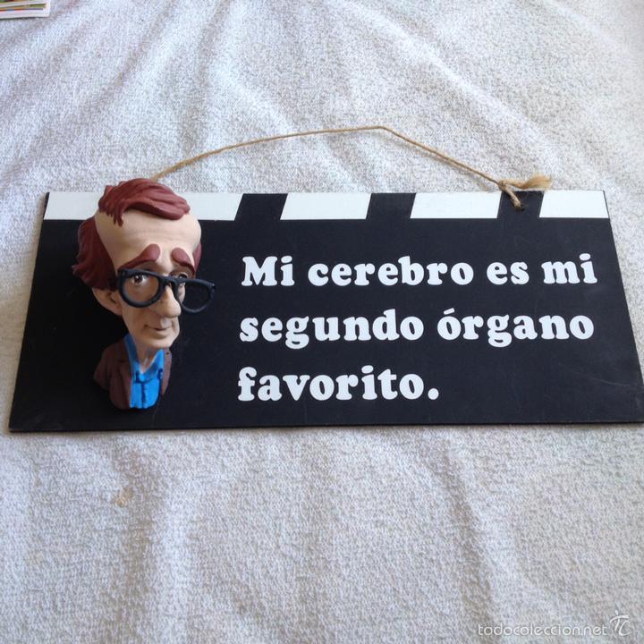 Woody Allen Espectacular Letrero Con Frase Y S Vendido En