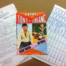 Cine: CONTRATO ACTUACION - ESTOY HECHO UN MULO - TONY LEBLANC, MARY D'ARCOS - AÑO 1976.CALAHORRA LA RIOJA. Lote 57884202