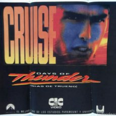 Cine: PEGATINA TOM CRUISE. PELICULA -DIAS DE TRUENO-. -DAYS OF THUNDER-. Lote 58700636