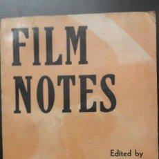 Cine: .1 LIBRO WISCONSIN FILM SOCIETY ** FILM NOTES ** A. LENNIG - 1960 - FOTOS B/N. INGLÉS. Lote 60123819