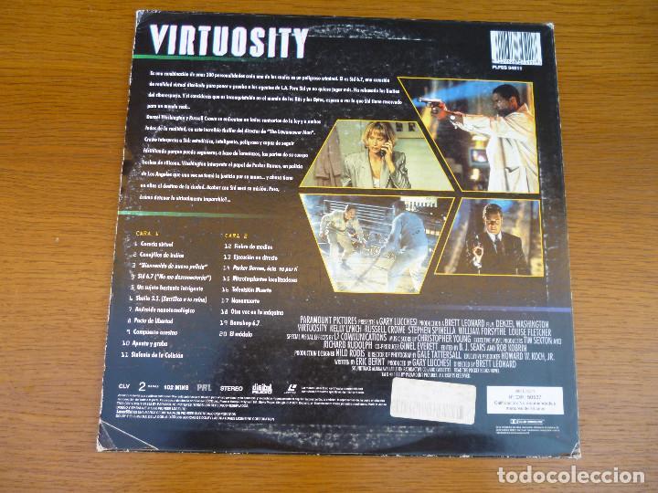 Cine: LASER DISC VIRTUOSITY, con Delzel Washington, Kelly Lynch y Russell Crowe. Laserdisc.Ciencia Ficción - Foto 2 - 61704116