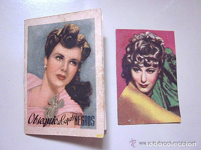 CATÁLOGO ORIGINAL COPOS NEGROS PERFUME.1º SERIE ARTISTAS CINEMA.1947.CROMO CINEFOTO BRUGUERA 1940. (Cine - Varios)